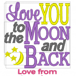I love you to the moon girl 2